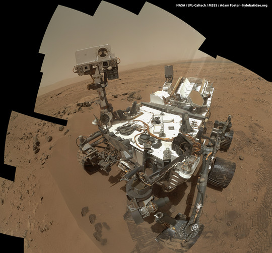 MSL Curiosity self-portrait!