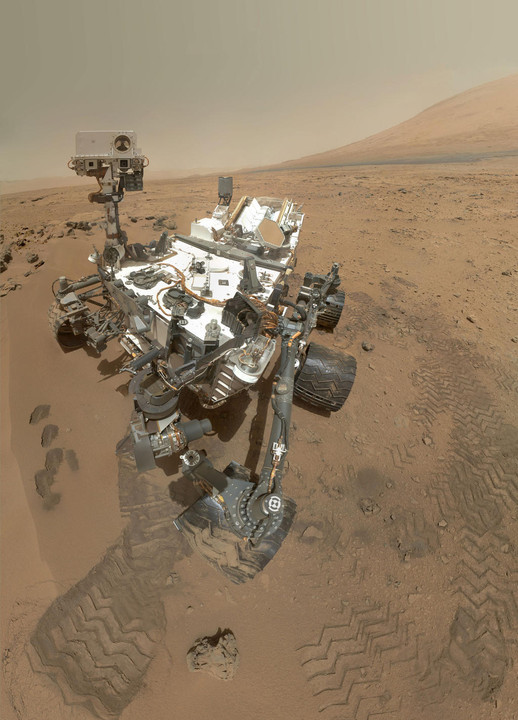 NASA's MSL Curiosity self-portrait.