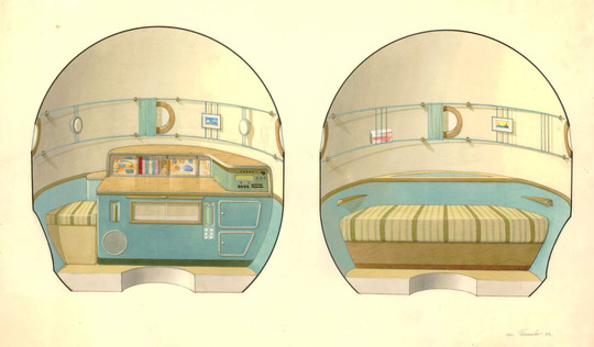 A '60s camper-van - in space!