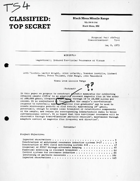 CLASSIFIED: TOP SECRET