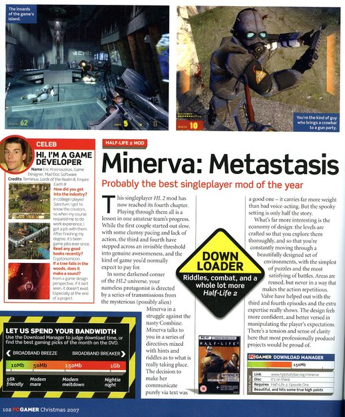 PC Gamer article scan - click for larger